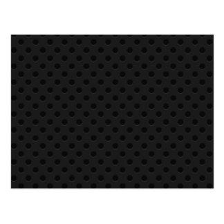 Fibra perforada negra del agujerito tarjeta postal