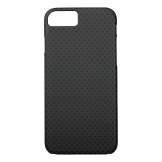 Fibra perforada negra funda iPhone 7