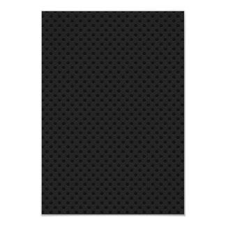 """Fibra perforada negra invitación 3.5"""" x 5"""""""