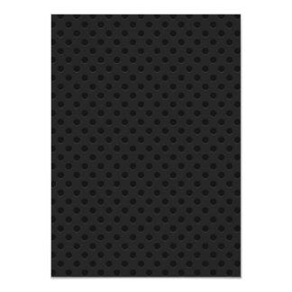 """Fibra perforada negra invitación 4.5"""" x 6.25"""""""