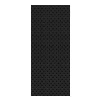 """Fibra perforada negra invitación 4"""" x 9.25"""""""