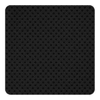"""Fibra perforada negra invitación 5.25"""" x 5.25"""""""