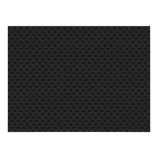 """Fibra perforada negra invitación 6.5"""" x 8.75"""""""