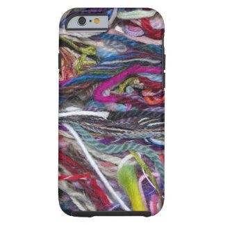 Fibras coloridas de las lanas funda para iPhone 6 tough