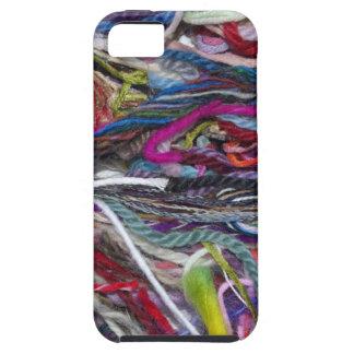 Fibras coloridas de las lanas iPhone 5 Case-Mate protectores