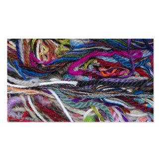 Fibras coloridas de las lanas tarjeta de visita