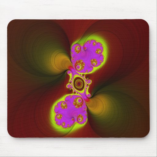Fibras del fractal mousepads