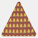 Fibras preciosas calcomanías trianguloes