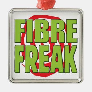 Fibre Freak G Square Metal Christmas Ornament