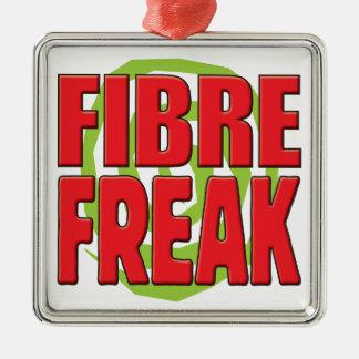 Fibre Freak R Square Metal Christmas Ornament