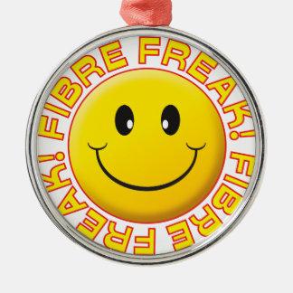 Fibre Freak Smile Round Metal Christmas Ornament