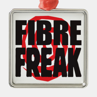 Fibre Freak Square Metal Christmas Ornament