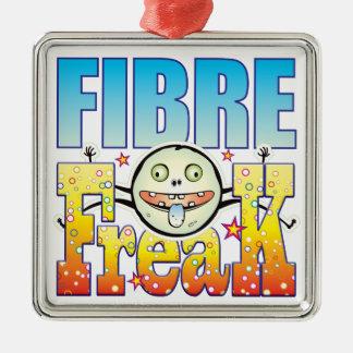 Fibre Freaky Freak Square Metal Christmas Ornament