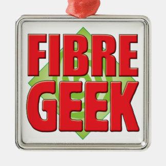 Fibre Geek v2 Square Metal Christmas Ornament