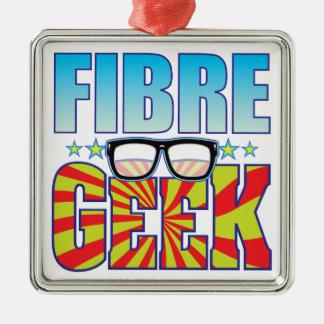 Fibre Geek v4 Square Metal Christmas Ornament