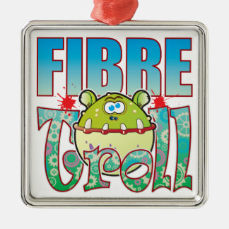 Fibre Troll Square Metal Christmas Ornament