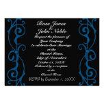 Fibril Ebony (Blue) Wedding Invitation
