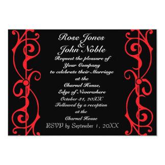 Fibril Ebony (Ruby) Wedding Invitation