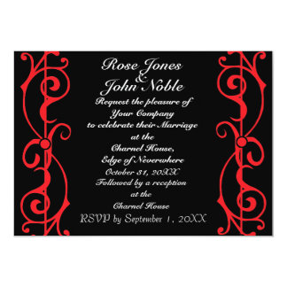 Fibril Ebony (Ruby) Wedding Invitation