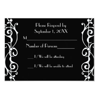 Fibril Ebony (White) RSVP Card