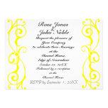 Fibril Ivory (Yellow) Wedding Invitation