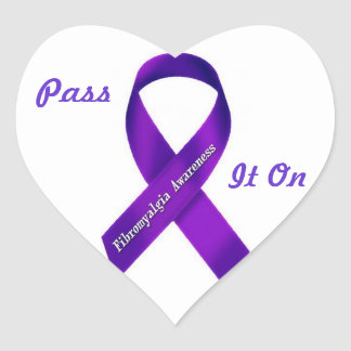 Fibro Awareness: Pass it on heart stickers