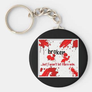 Fibro broken logo- keychain