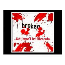 Fibro broken logo- postcard