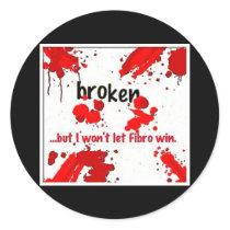Fibro broken logo- sticker