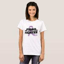 Fibro Fighter Purple Ribbon T-Shirt
