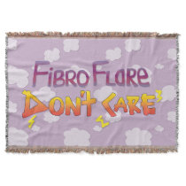 Fibro Flare Don't Care Throw
