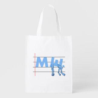 Fibro M.E. CFS Text Art Grocery Bag