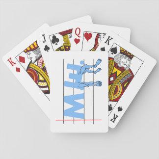 Fibro M.E. CFS Text Art Playing Cards