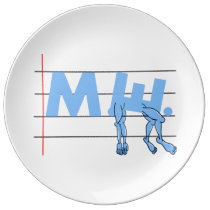 Fibro M.E. CFS Text Art Porcelain Plate