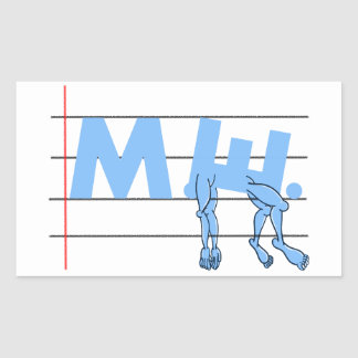 Fibro ME. CFS Awareness Rectangular Sticker