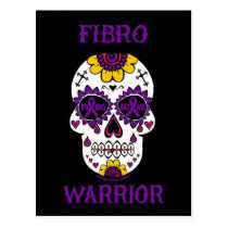 FIBRO WARRIOR  sugar skull Postcard