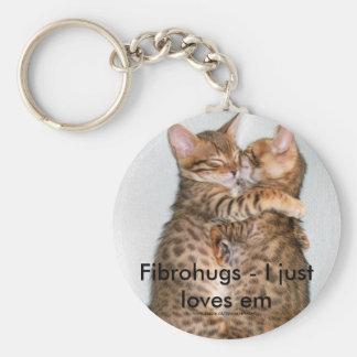 Fibrohugs - I apenas ama el em Llavero Redondo Tipo Pin