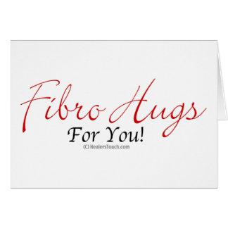 Fibrohugs v.1 tarjeta de felicitación