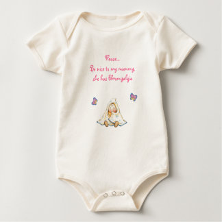 Fibrommy shirt, pink baby bodysuit