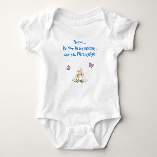 Fibromommy shirt, blue baby bodysuit