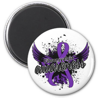 Fibromyalgia Awareness 16 2 Inch Round Magnet