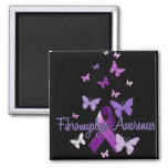 Fibromyalgia Awareness 2 Inch Square Magnet