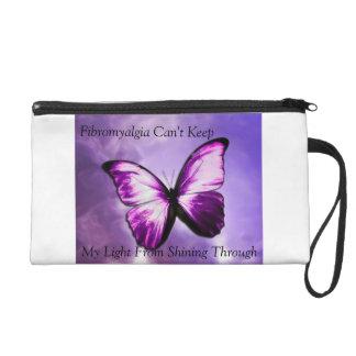 Fibromyalgia Awareness Bag Wristlet Clutches
