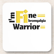 Fibromyalgia Awareness Beverage Coaster