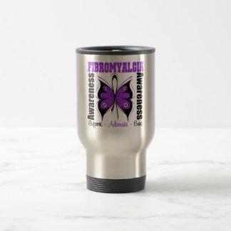 Fibromyalgia Awareness Butterfly 15 Oz Stainless Steel Travel Mug