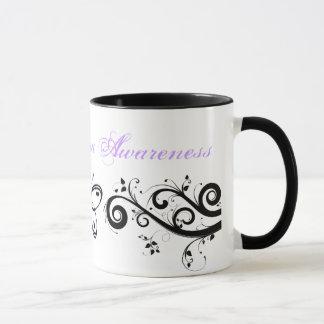 Fibromyalgia Awareness Butterfly Coffee Travel Mug
