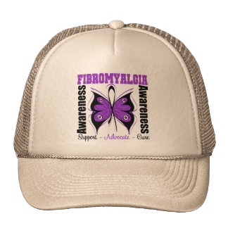 Fibromyalgia Awareness Butterfly Hat