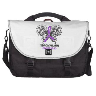 Fibromyalgia Awareness Butterfly Laptop Bag