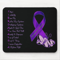 Fibromyalgia Awareness Butterfly Mouse Pad
