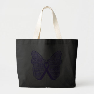 Fibromyalgia Awareness Butterfly Ribbon Bag
